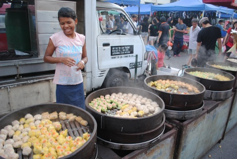 A Wide Variety of Chinese Dumplings Offered at the Melakan Night Market