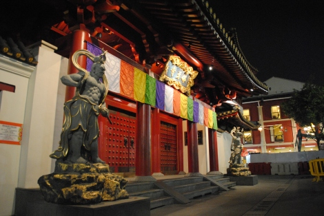 The Entrance to Singapore's Buddha Tooth Temple