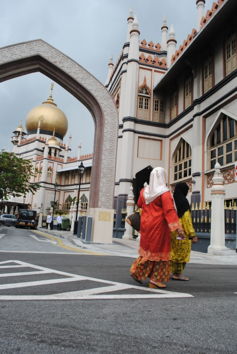 Outside the Mosque on Arab Street