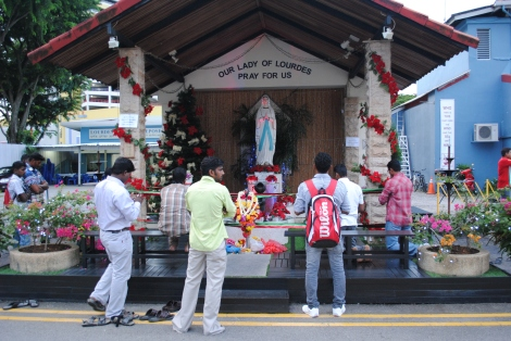 Devotees of Our Lady Lourdes Church