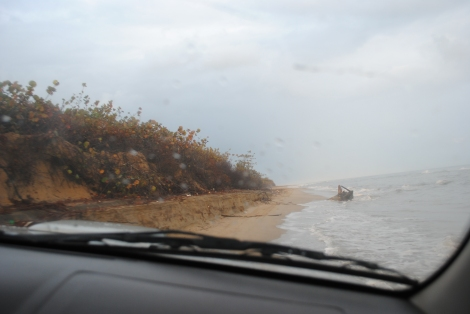 The first two hours of the drive we careened through sand and waves along mile after mile of nearly uninhabited coast