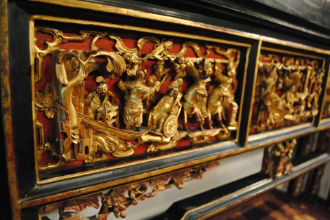 Finely Crafted Gold on Peranakan Furniture