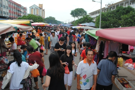 Market Stalls Line the Streets