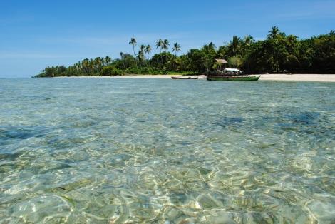 Tropical Hoga island in Wakatobi Marine Park, Southeast Sulawesi, Indonesia