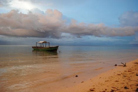 Hoga Island Resort's Beach and Boat