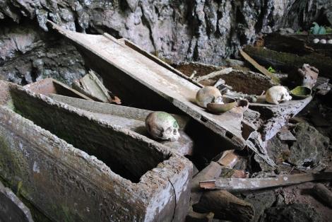 Lesser known Torajan burial site at Parinding