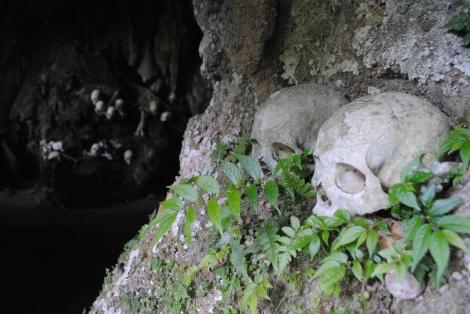 Skulls and bones fill every cavern at Parinding