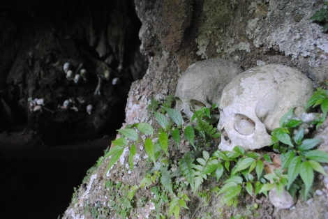 Skulls and bones fill every cavern at Parinding