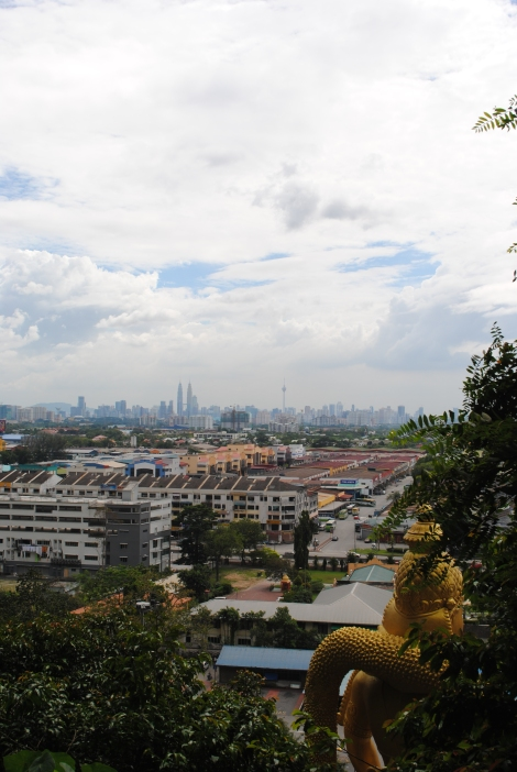 View of Kuala Lumpur from the Batu Cave entrance