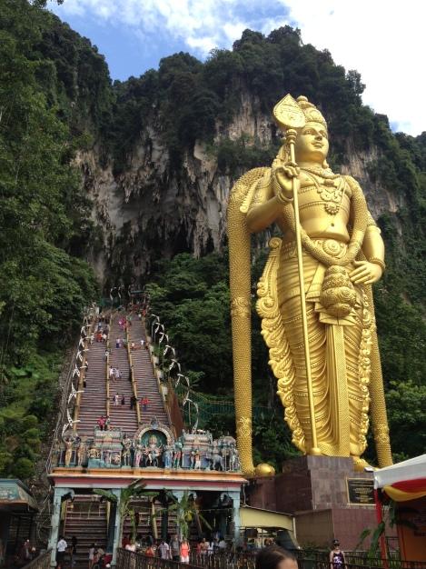 Statue of Lord Matanu outside the Batu Caves, Kuala Lumpur