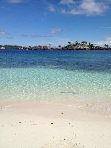 Malenge's white sand beach