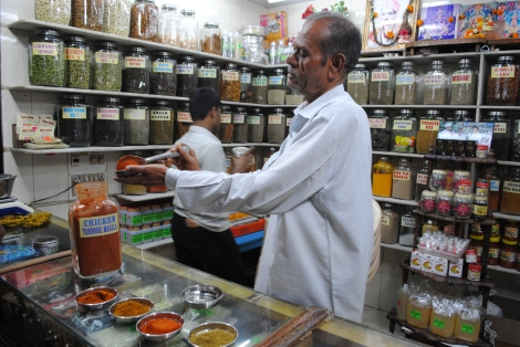 Spice Kings sell their hand ground masalas amidst the bustling Crawford Market