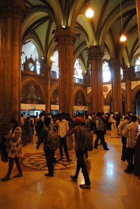 Victorian interior of Mumbai's central railway station