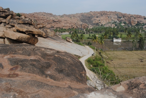 Hampi's boulder  strewn countryside