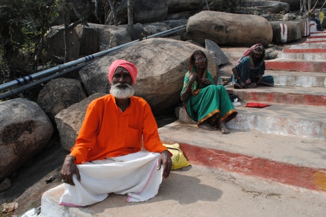 Sadhu out front of Ranganatha Temple