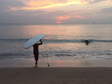 Sunset surf on Anjuna Beach