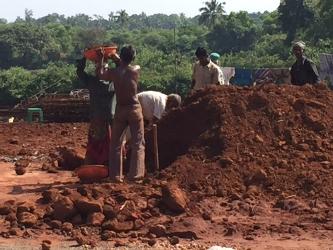 Road Construction in Goa...one bowl at a time.