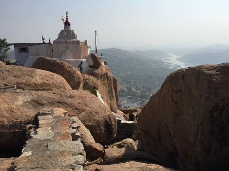 A 570 step climb leads to the Hanuman Temple and spectacular views