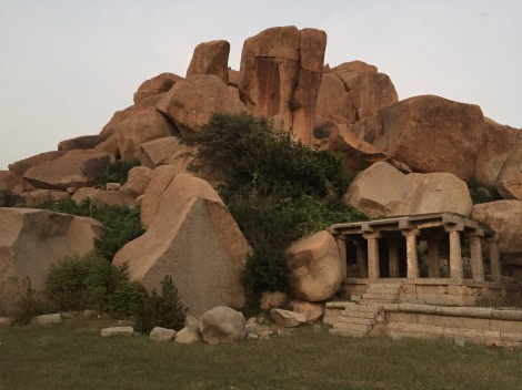 Things quiet as dusk settles over Hampi